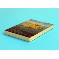A5 Novel Softcover Book Printing Services , Glossy Lamination Single Black Inner Page Manufactures