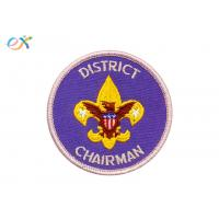 Embroidery Boy Scout Patches USA Make Custom Logo Polyester For Club Manufactures