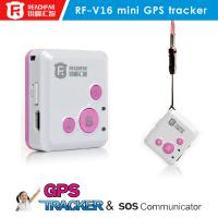 RF-V16 mini persoanl gps tracker sos panic button phone call gps tracker Manufactures