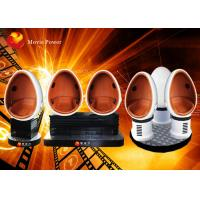 Interactive 3 Seats 360 Degree Egg 9D VR Cinema Simulator DC 220V 4.5KW Manufactures