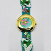 3D Cartoon Kids Waterproof Watch With Alloy Case And Silicone Band Manufactures