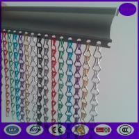 100% anodized aluminum chain fly link curtain screen  with special track Manufactures