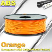 Orange  3D Printing Materials 1.75mm ABS 3D Printer Filament In Roll Manufactures