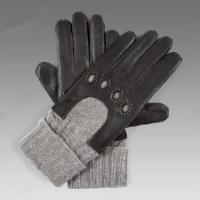 Men′s Leather Gloves with Cashmere Cuff (NF10-M26) Manufactures