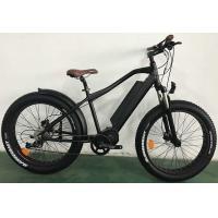 China 26er Aluminum Electric Fat Bike , Mid - Drive Black 1000w Electric Bike on sale