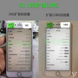 China iphone 6S 6SP 128G NAND Flash Memory Hard-disk expand 6S 6SP NAND Flash Memory to 128G on sale