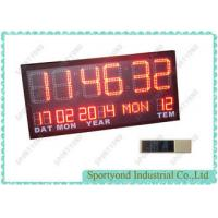 Quality Temperature and Date with Led Digital Clock Display , Ultra Bright red LED for sale
