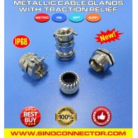 China IP68 Waterproof Brass Cable Gland with Stress Relief / Tension Relief on sale