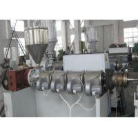 PVC Corrugated Pipe Making Machine Twin Screw Extruder , Single Wall PVC Pipe Extrusion Machine Manufactures