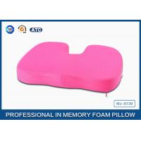 Adult Comfort Orthopedic Memory Foam Seat Cushion With Non - slip Embroidery Cover Manufactures
