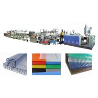 Polycarbonate Hollow Plastic Sheet Production Line For PC Hollow Cross Section Sheet Manufactures