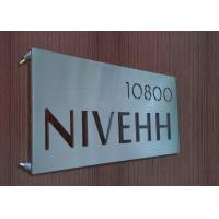 High End Stainless Steel Door Signs , Brushed / Glossy Personalized Metal Signs Manufactures