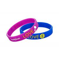 Soft Color Changing Custom Silicone Wristbands For Promotional Gifts Manufactures