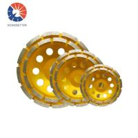 China Concrete and Stone Polish Segmented Turbo Double Row Diamond Cup Grinding Wheel on sale
