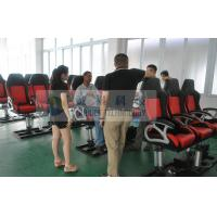 China Hydraulic Electrical 7D 8D 9D Movie Theater Chairs , Fiber Glass with Rubber Cover on sale
