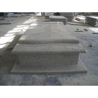 Western Style Grey Granite Stone Tombstone Straight Carving Flat Grave Monuments Manufactures