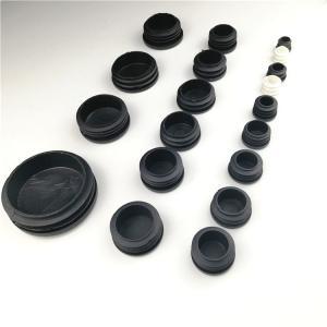 Black Round Square Furniture Feet End Cap Plastic Blanking Plug Manufactures