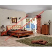Apartment Bedroom Furniture suite by leather pad and cherry solid wood bed with drawer chest Manufactures