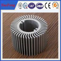 Aluminum round heat sink extrusion, Custom made round clear anodized aluminum heatsink Manufactures
