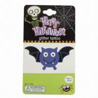 Temporary Halloween Glitter Tattoo, Nontoxic and Safe, Suitable for Promotions Manufactures