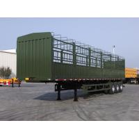 tri axle semi trailer air bag suspension fence trailer for sale Manufactures