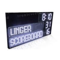 P16mm LED Football Scoreboard With White Color Digits Easy Maintenance Manufactures