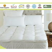 Microfiber Baffle Boxes Self-piping Mattress Pad Toppers King Size White or Customized Manufactures
