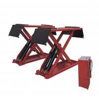 Low Profile Hydraulic Auto Lift , Home Garage In-ground Mid Rise Scissor Lift Manufactures
