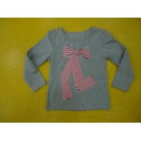 Big Bow Chest  Girls Stylish Top Girls Crew Neck T Shirt Top Nice Hand Feel Manufactures