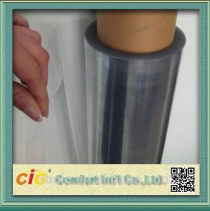 China Transparent 100 PVC Self Adhesive Film , Cold Lamination PVC Decorative Film on sale