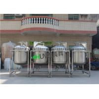 Customized Capacity 50L-10000L Water Pressure Tank / SUS304 Round Shape Water Storage Tank With Wheel Manufactures