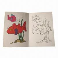 Saddle Stitch Notebook/Coloring Book, Suitable for Children, Made of Paper, Eco-friendly Manufactures
