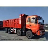 China DFD3318 Industrial Dump Truck , RHD / LHD 375HP 8x4 Tipper Truck Red Color on sale