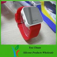 Colorful Lights Up Silicone LED Watch For Children / Women With Custom Dial / Logo
