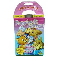 Puppies / Kitten Coloring Book Printing Carry And Color Activity Pad Varnishing Finish Manufactures