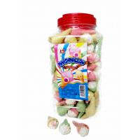 Jar Packaging Snacks Ice Cream Shape  Fruity Flavor Marshmallow Candy ,  Customized Marshmallow Sweets And Soft Manufactures