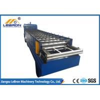 High Durability Glazed Tile Roll Forming Machine , Blue Step Tile Roll Forming Machine Manufactures