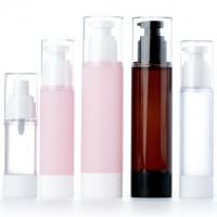 China Frosted Airless Plastic Lotion Containers , Travel Packing Face Cream Bottle on sale