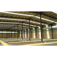 China Prefab Steel Structure Construction / Warehouse Steel Frame Construction on sale