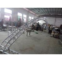 Black 300*300*12m Length Arch Spigot Connection Aluminum Stage Truss Strong Loading Capacity Manufactures