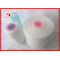 Raw White Polyester Spun Yarn High Technology For Sewing Thread Bright Fiber Manufactures
