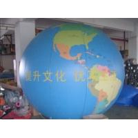 China Earth Pattern Tarpaulin PVC Inflatable Advertising Balloons Customized Good Tension on sale