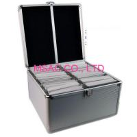 China Lightweight Aluminum CD DVD Storage Carrying Case / 200 CD Cases , Silver on sale