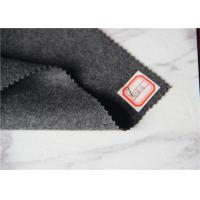 Quality Heavy Weight Grey Wool Fabric In Stock , Autumn Jackets Wool Boucle Fabric 720 Gram for sale
