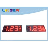 7 Segments Led Price Signs For Gas Stations Hanging / Mounting Installation Manufactures