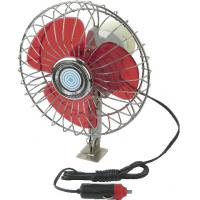 YF207B Red And Silver Chrome Car Cooling Fan12V / 24V For Vehicle Manufactures