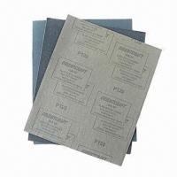 Wet/Dry Water-resistant Sandpaper with Black Silicone Carbide, French 15% Latex Brown Paper Back Manufactures