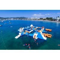 Giant Adult Giant Blue inflatable sport park For Wake Island ,Water sports equipment For Ocean Manufactures