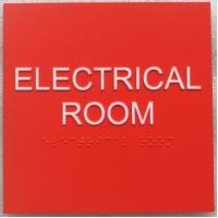 China Red Room ID Thermoformed ADA Signs 1/8 Acrylic Panel 1/32 Tactile Text Grade II Braille on sale