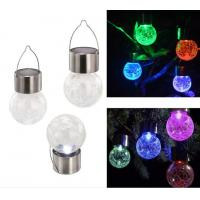 China Solar Energy Powered LED Colorful Crack Pin Glass Balls Lights,LED Garden Night Lamps on sale